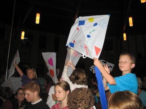 kids with their kites