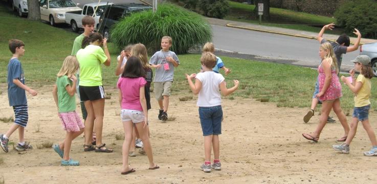kids playing SPUD