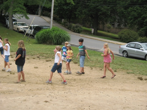 kids playing SPUD