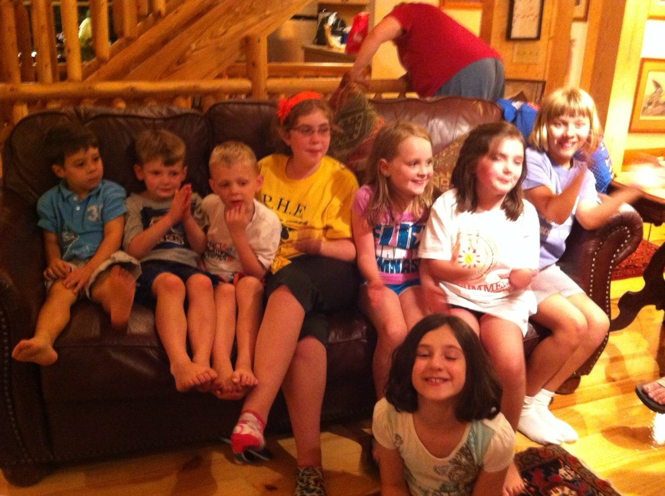 Bunch of kids on the couch