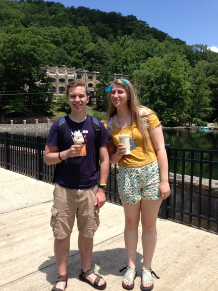 Noah and Tressa with ice cream