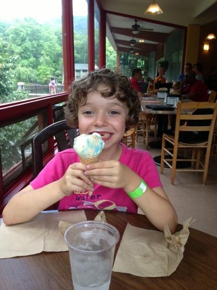 Clara and ice cream