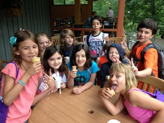 children eating ice cream for breakfast