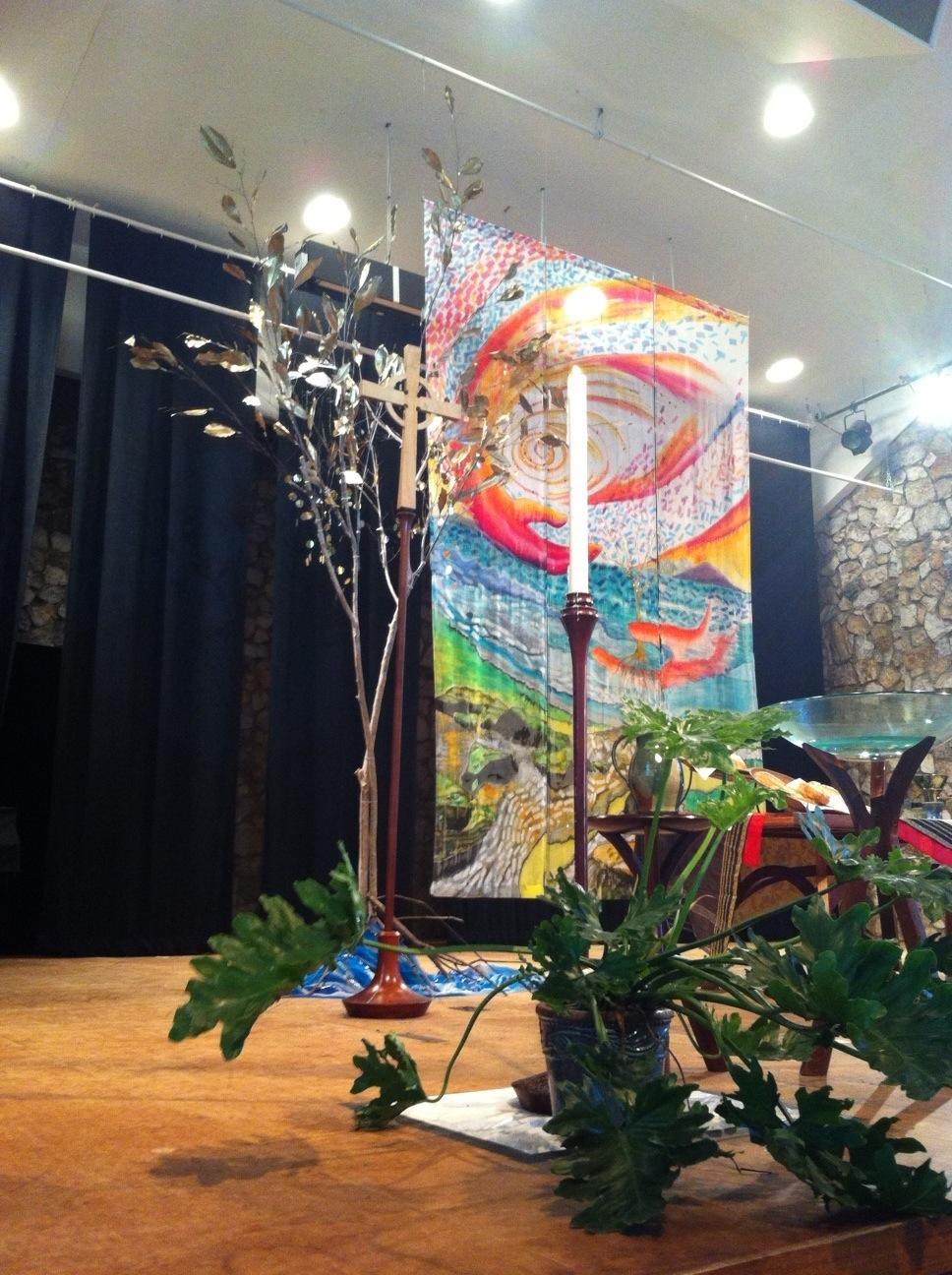 decorations in sanctuary