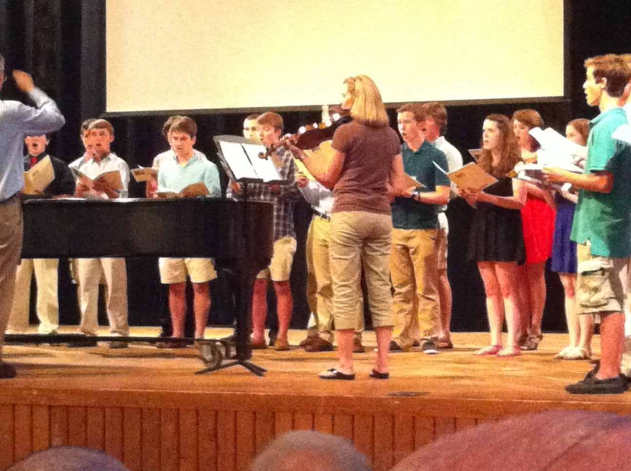 Noah singing in chamber choir