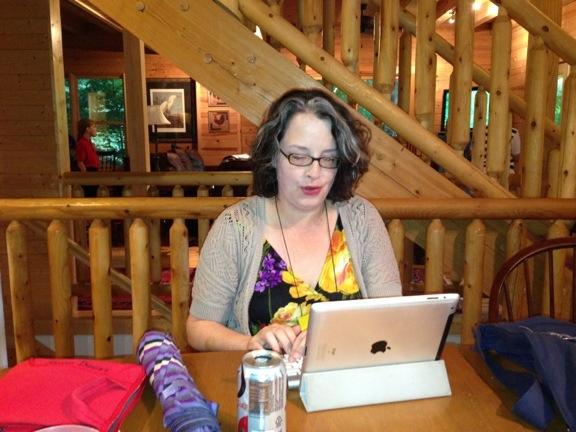 Sharon blogging