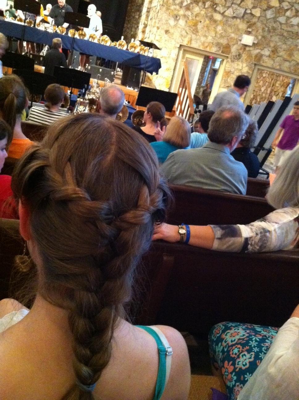 Elizabeth in French braid